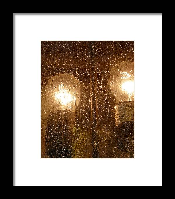 Abstract Framed Print featuring the photograph Lite Rain by Florene Welebny