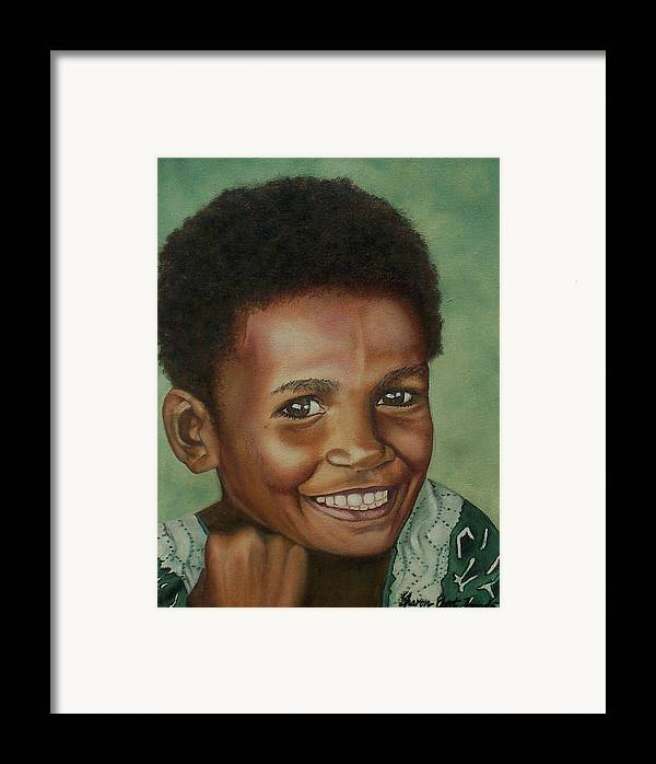 Portrait Framed Print featuring the painting Little Alis by Sharon Ebert