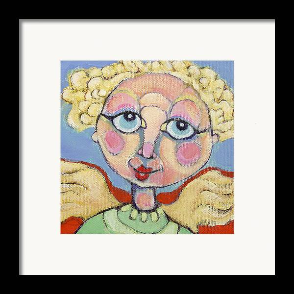 Acrylic Framed Print featuring the painting Little Angel by Michelle Spiziri