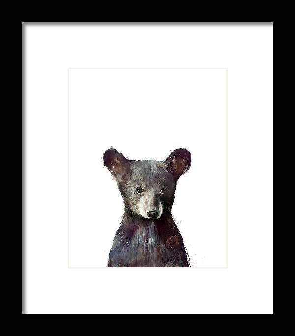 Bear Framed Print featuring the painting Little Bear by Amy Hamilton