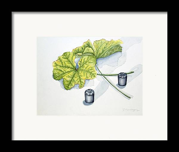 Candles Framed Print featuring the painting Little Black Candles by Judy Henninger