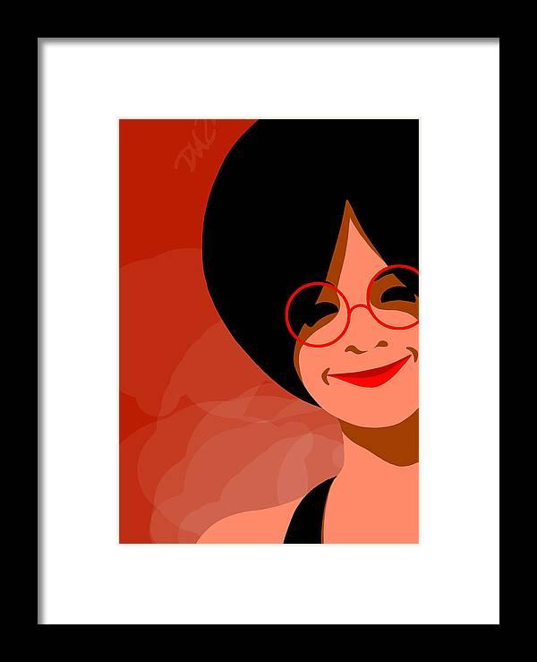 Dkzn Framed Print featuring the digital art Little Black Dress by Tom Dickson
