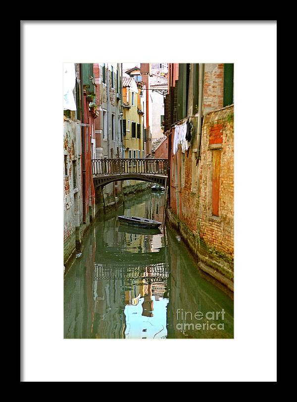 Venice Framed Print featuring the photograph Little Boat on Canal in Venice by Michael Henderson