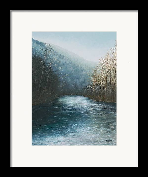Buffalo River Paintings Framed Print featuring the painting Little Buffalo River by Mary Ann King