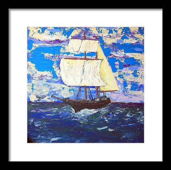 Impressionist Painting Framed Print featuring the painting Little Clipper by J R Seymour
