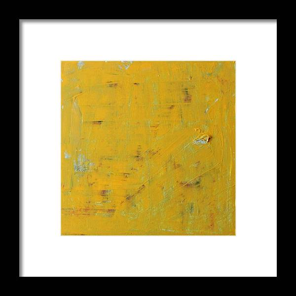 Yellow Framed Print featuring the painting Little Dab Will Do Ya by Pam Roth O'Mara