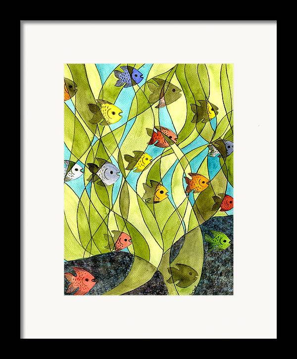 Fish Framed Print featuring the painting Little Fish Big Pond by Catherine G McElroy