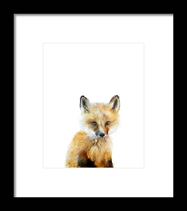 Fox Framed Print featuring the painting Little Fox by Amy Hamilton