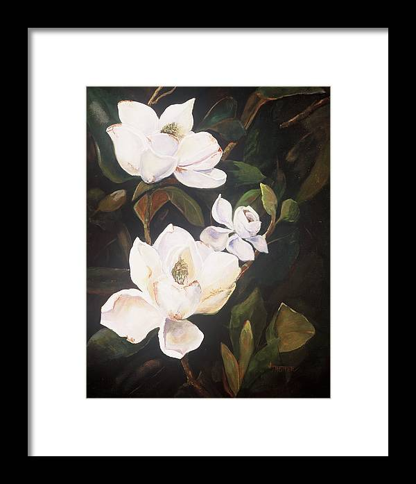 Floral Framed Print featuring the painting Little Gems by Jimmie Trotter
