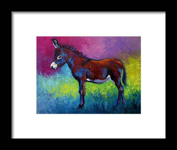 Burro Framed Print featuring the painting Little Jenny by Marion Rose