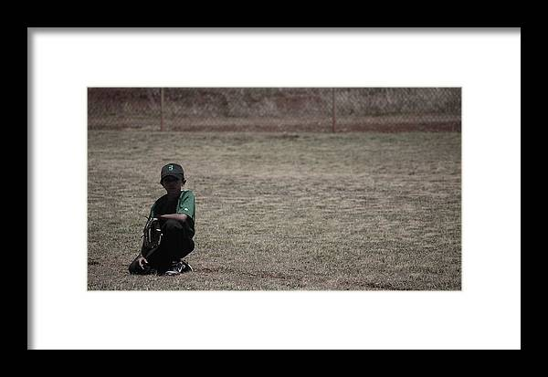 Baseball Framed Print featuring the photograph Little League by Lakida Mcnair