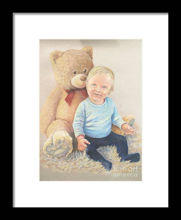 Little Man Framed Print featuring the painting Little Man by Ahto Laadoga