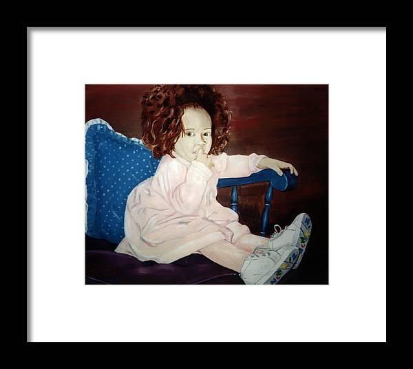 Kevin Callahan Framed Print featuring the painting Little Miss Hassler by Kevin Callahan