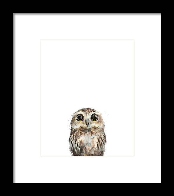 Owl Framed Print featuring the painting Little Owl by Amy Hamilton