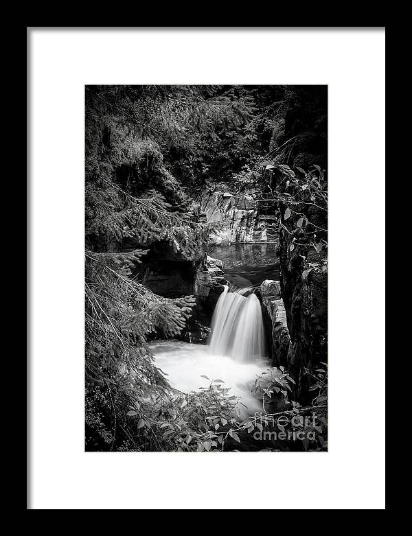 Waterfalls Framed Print featuring the photograph Little Qualicum Falls 1 by David Hillier