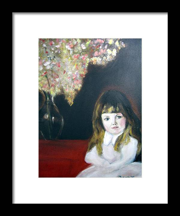 Child Framed Print featuring the painting Little Queen by Michela Akers