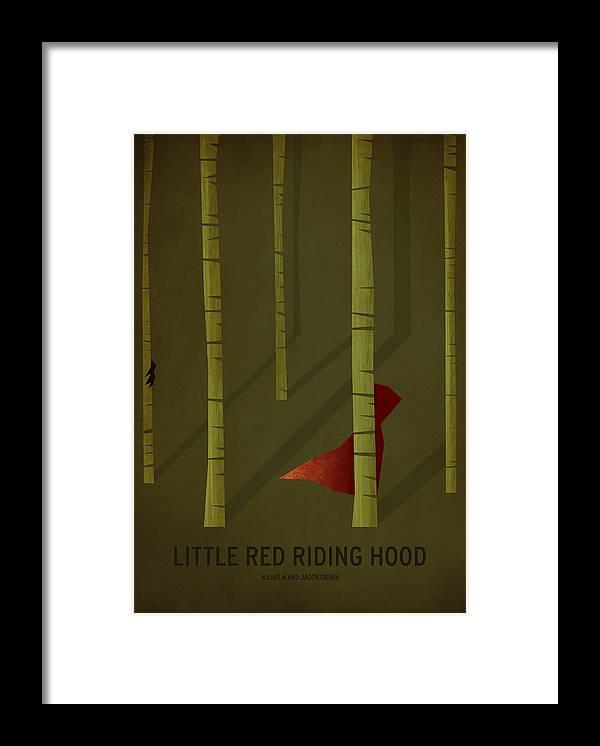 Stories Digital Art Framed Print featuring the digital art Little Red Riding Hood by Christian Jackson