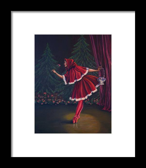 Dance Framed Print featuring the painting Little Red Riding-hood by Maren Jeskanen