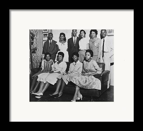 History Framed Print featuring the photograph Little Rock Nine And Daisy Bates Posed by Everett