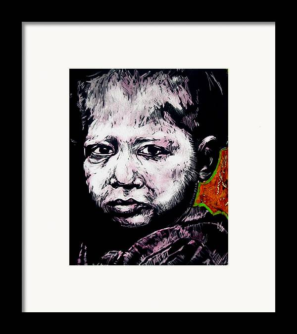Framed Print featuring the mixed media Little Rosita by Chester Elmore