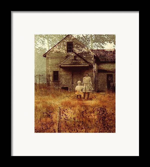 Ghosts Framed Print featuring the photograph Little Sister by Brande Barrett