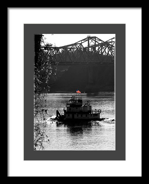 Tug Boat Framed Print featuring the photograph Little tug by Leon Hollins III
