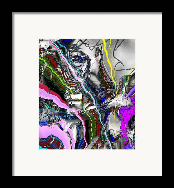 Abstract Pink Purple Red Framed Print featuring the digital art Little Wire by Dave Kwinter