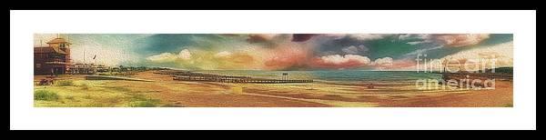 Littlehampton Framed Print featuring the photograph Littlehampton Beach by Leigh Kemp