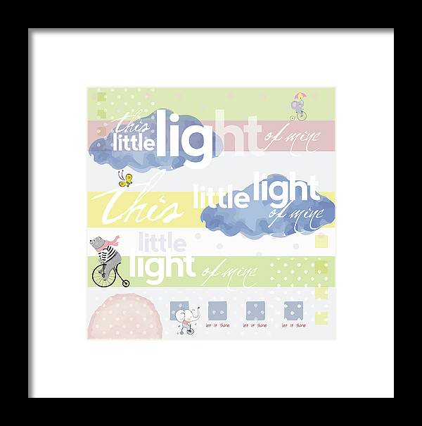Children Framed Print featuring the digital art Light Of Mine by Claire Tingen