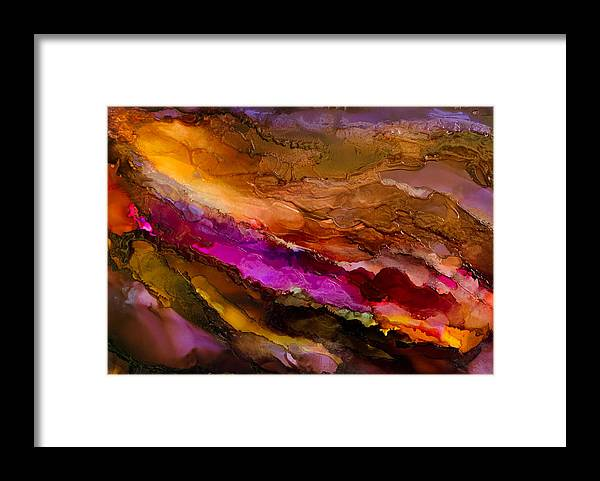 Abstract Framed Print featuring the painting Live Your Passion - A - by Sandy Sandy