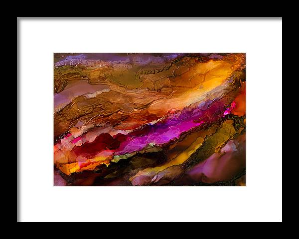 Abstract Framed Print featuring the painting Live Your Passion - C - by Sandy Sandy