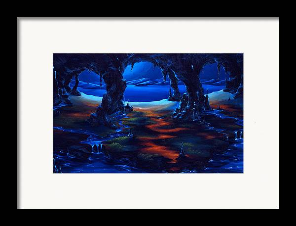 Textured Painting Framed Print featuring the painting Living Among Shadows by Jennifer McDuffie