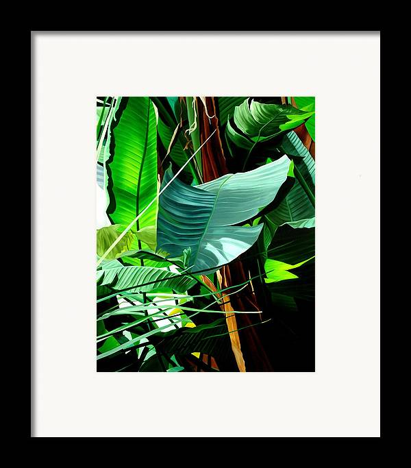 Floral Framed Print featuring the painting Living In Harmony by Sunhee Kim Jung