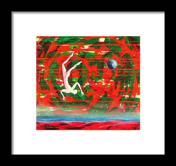 Universe Framed Print featuring the painting Living In My Life by Rollin Kocsis