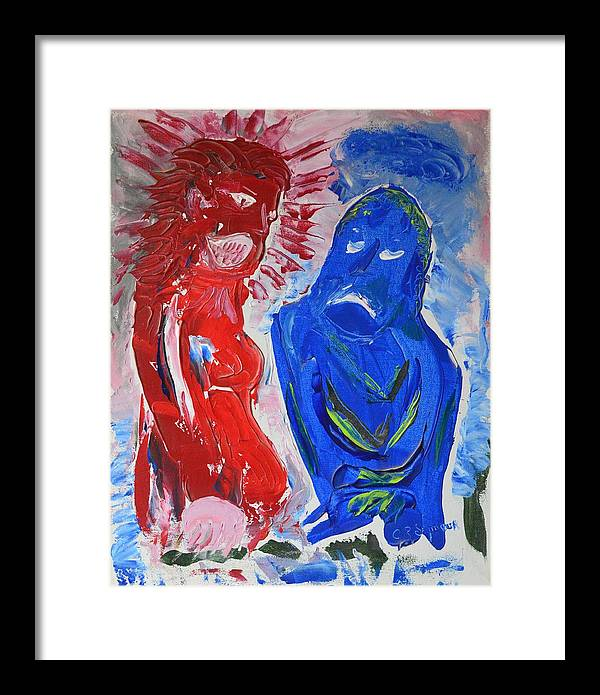 Impressionist Painting Framed Print featuring the painting Living With A Bi-polar by J R Seymour