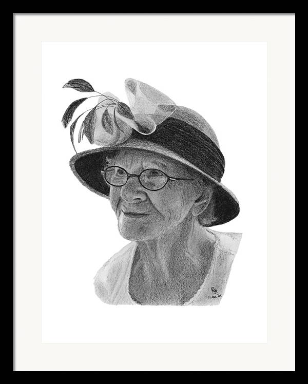 Liz Framed Print featuring the drawing Liz by Charles Vogan