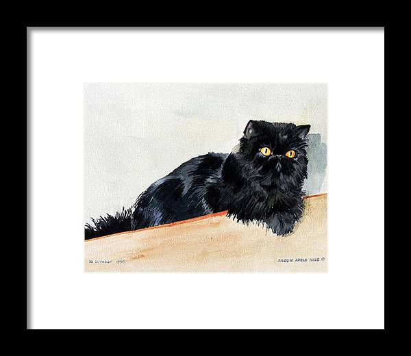 Portrait Framed Print featuring the painting Lizzy by Eileen Hale