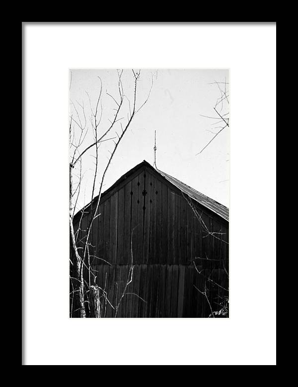 Ansel Adams Framed Print featuring the photograph lloyd-shanks-barn-1BW by Curtis J Neeley Jr