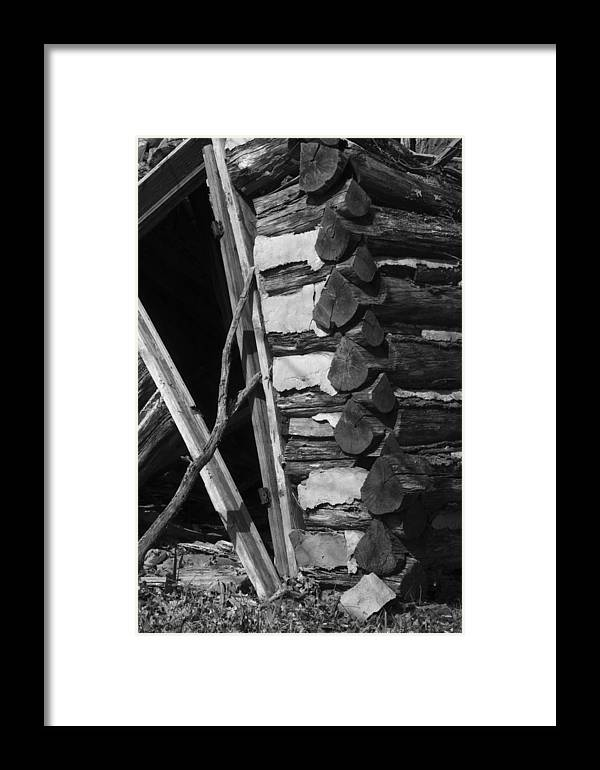 Framed Print featuring the photograph lloyd-shanks-barn-3BW by Curtis J Neeley Jr