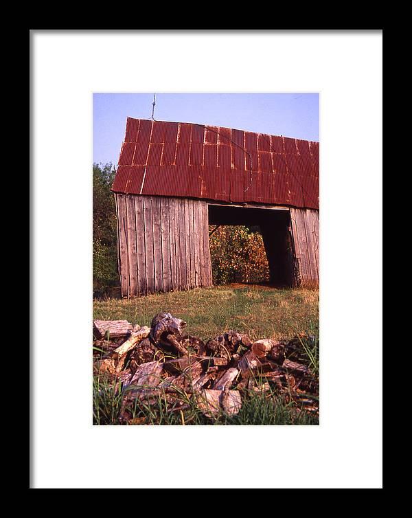 Framed Print featuring the photograph Lloyd Shanks Barn2 by Curtis J Neeley Jr