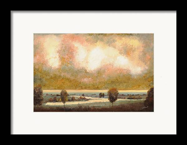 Pond Framed Print featuring the painting Lo Stagno Sotto Al Cielo by Guido Borelli