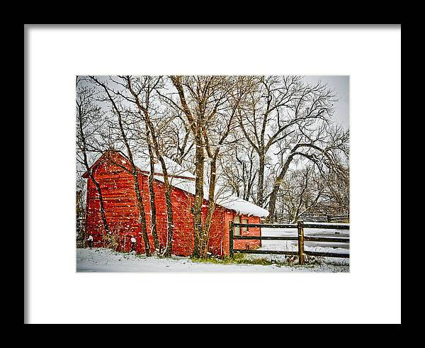 Americana Framed Print featuring the photograph Loafing Shed by Marilyn Hunt