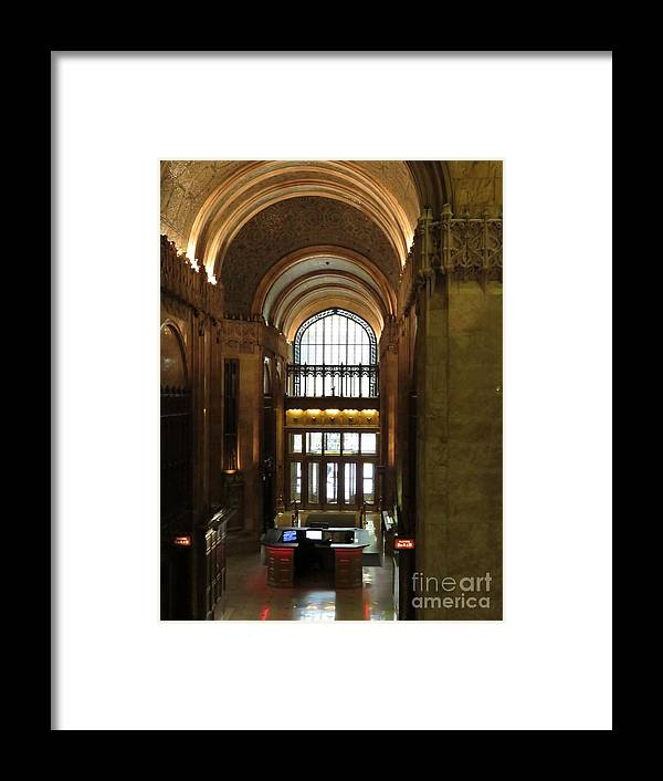Woolworth Framed Print featuring the photograph Lobby Of Woolworth Building by Maxine Kamin