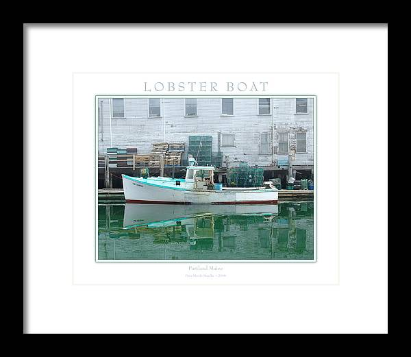 Landscape Framed Print featuring the photograph Lobster Boat by Peter Muzyka