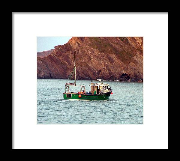 Boat Framed Print featuring the photograph Lobster Fishing Boat by Mindy Newman