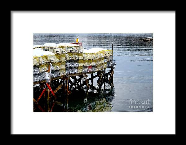 Maine Framed Print featuring the photograph Lobster Traps In Winter by Olivier Le Queinec