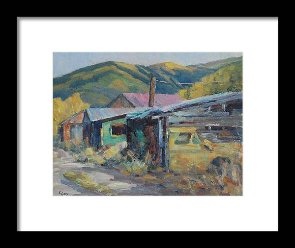 Rustic Framed Print featuring the painting Local Color by Gary Gore