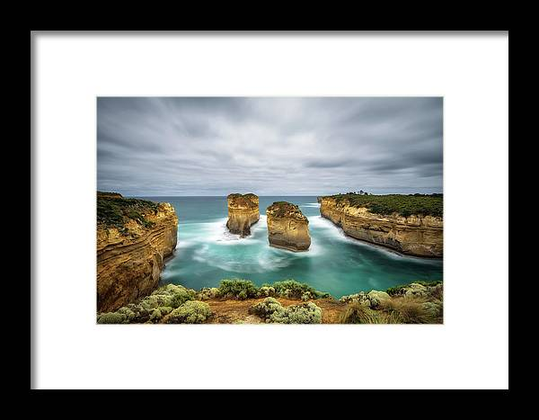 Australia Framed Print featuring the photograph Loch Ard Gorge In Victoria, Australia by Miroslav Liska
