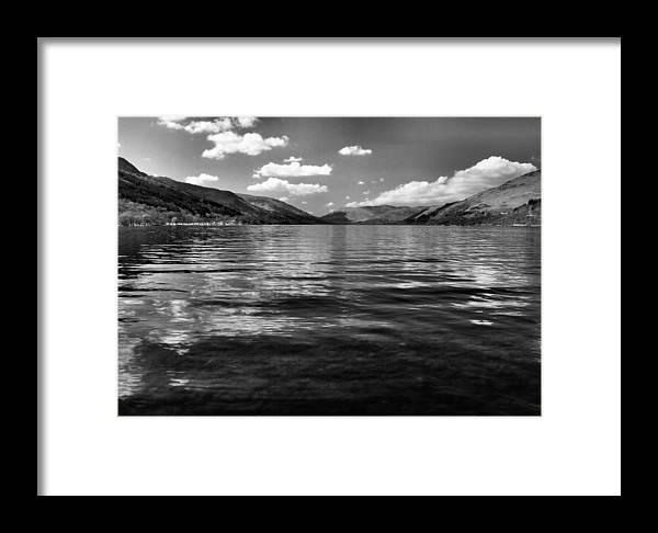 Landscape.loch Framed Print featuring the photograph Loch Earn Scotland by Fraser Davidson