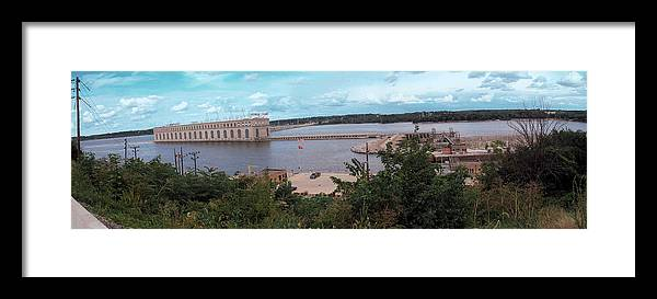 Dam Framed Print featuring the photograph Lock And Dam 19 by Jame Hayes